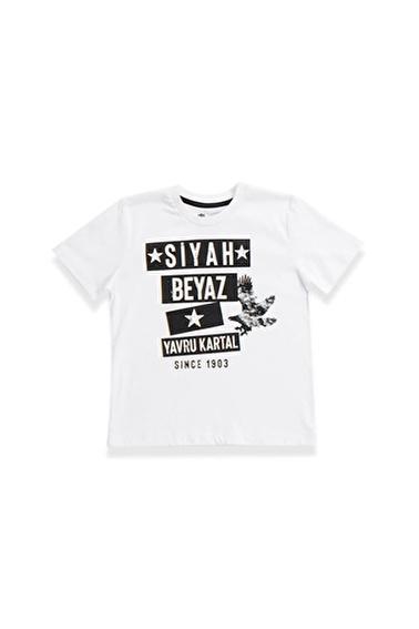 Beşiktaş Beşiktaş Lisanslı Çocuk Kısa Kollulu T-Shirt Siyah Beyaz